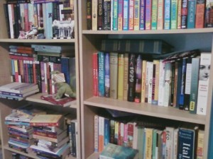 my bookshelves are messy