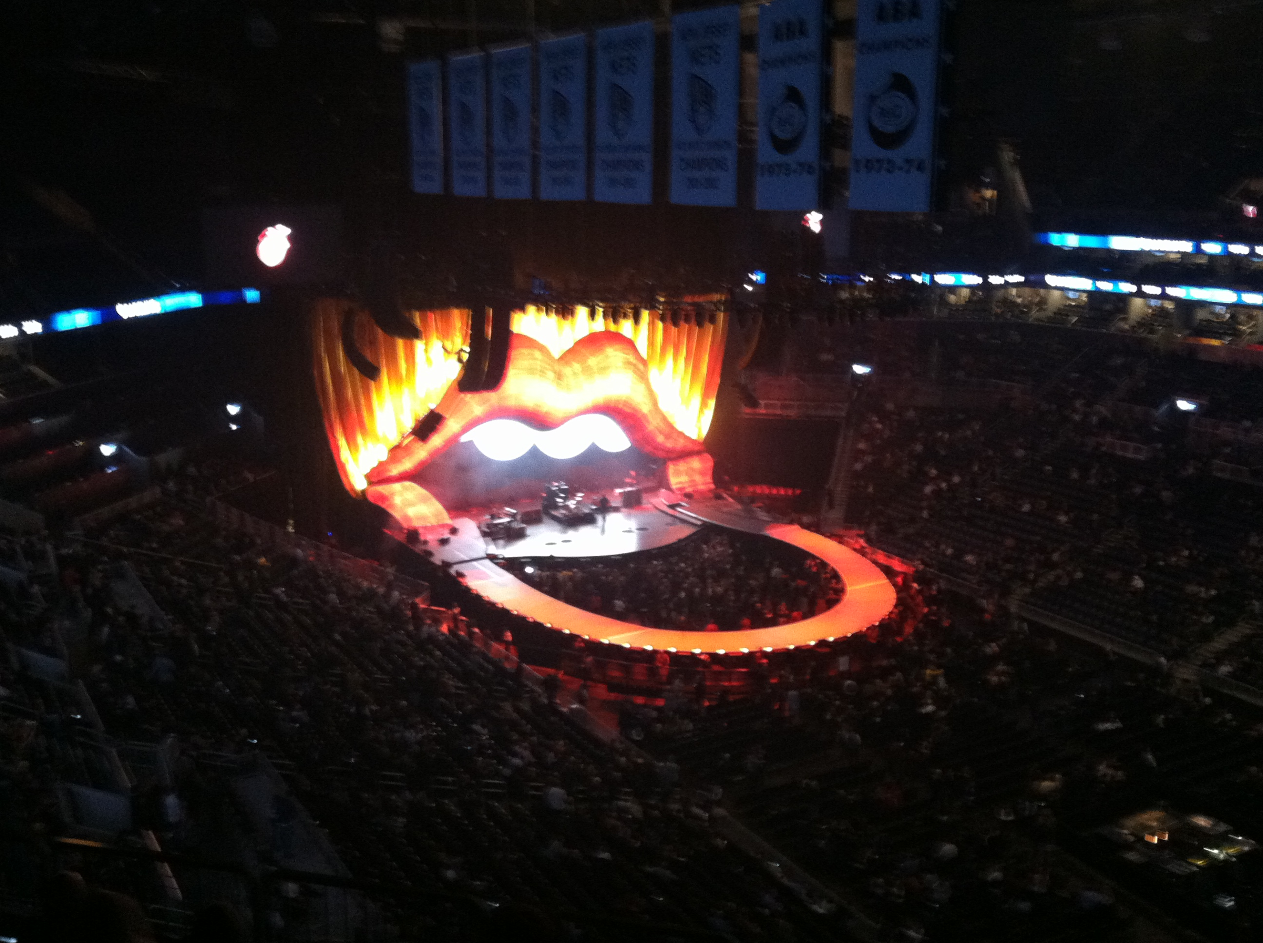 Our view of the Stones concert. We were... not close. Still a good show, though!