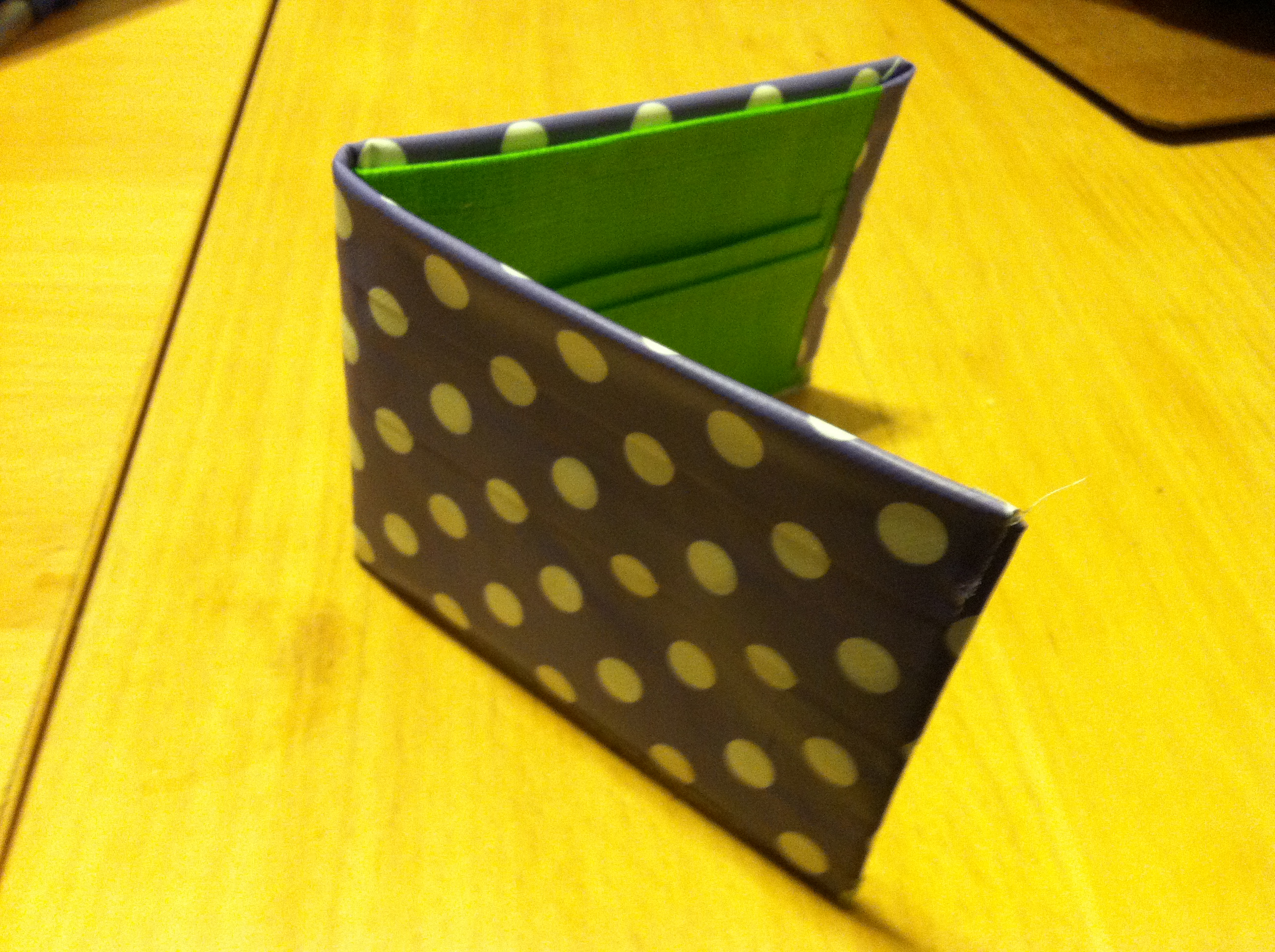 Not your college roommate's duck tape wallet!
