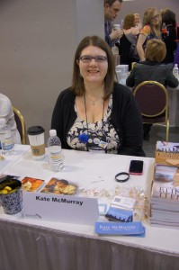 Me at the RT Giant Book Fair (photo by Elizabeth North)