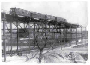 Elevated train at 110th St, 1896