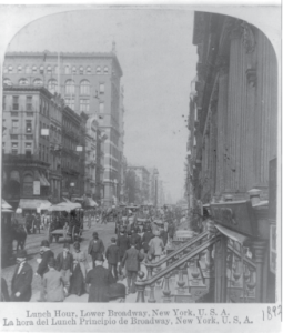 Lower Broadway, 1892